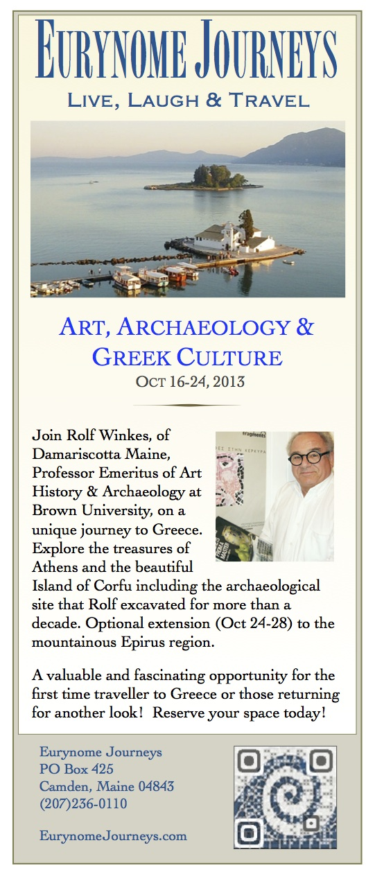 Archaeologist led tuor to Greece Oct 2013