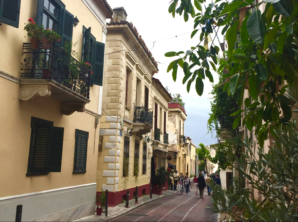 Neoclassical architecture of the Plaka, Athens, Greece