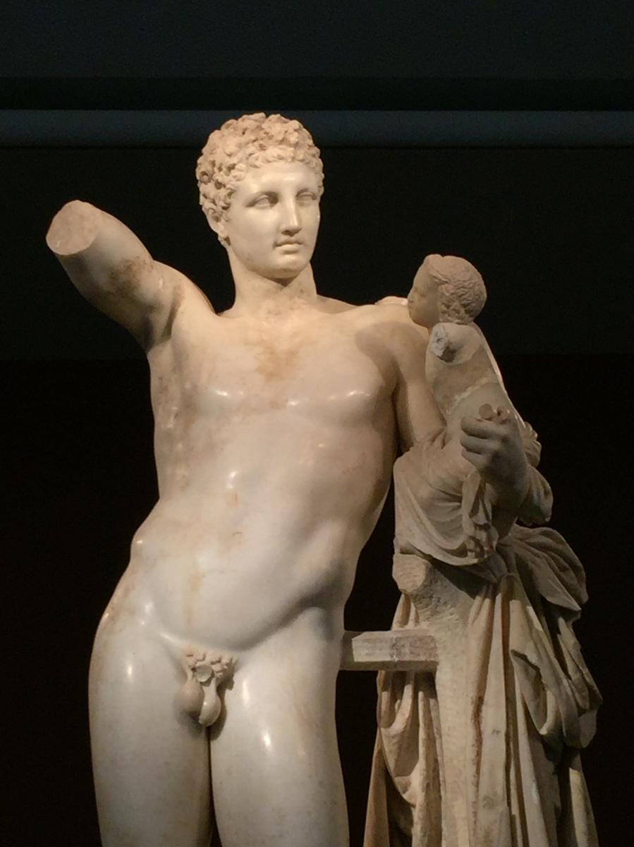 Statue of Hermes by the sculptor Praxiteles, Olympia, Greece